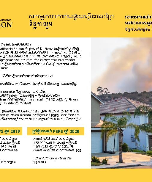 Wildfire Mitigation Progress by County Report 2020 Year-End (Khmer)