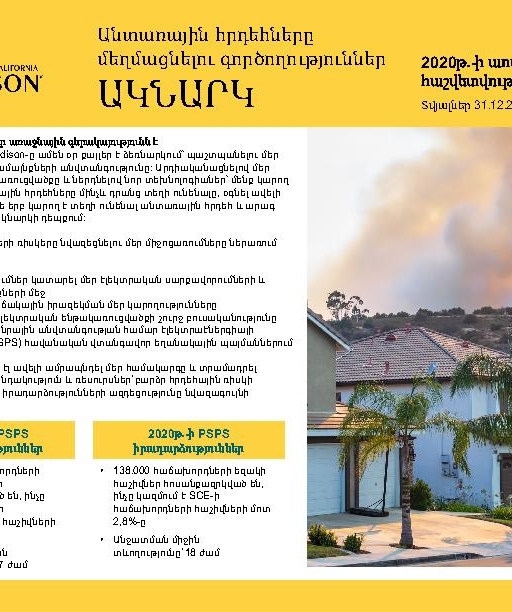 Wildfire Mitigation Progress by County Report 2020 Year-End (Armenian)