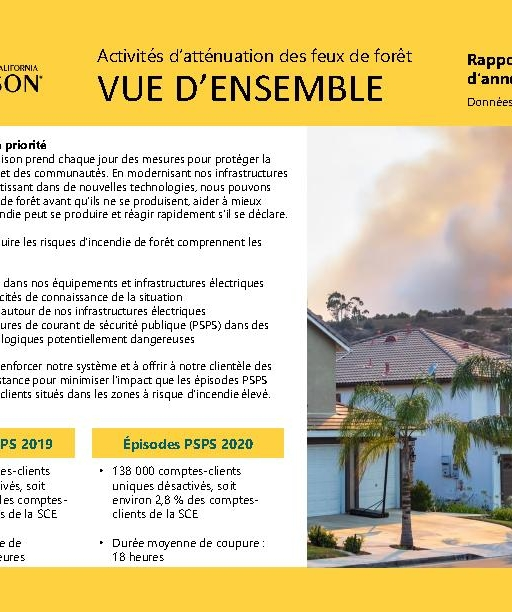 Wildfire Mitigation Progress by County Report 2020 Year-End (French)