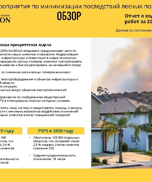 Wildfire Mitigation Progress by County Report 2020 Year-End (Russian)