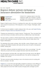 Regence debuts 'private exchange' as insurance alternative for businesses