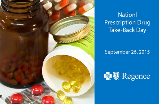 "Regence Supports the National Fight Against Prescription Drug Abuse and ""Drug Take-Back Day"" September 26"
