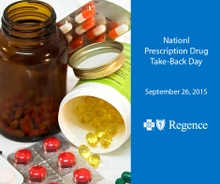 "Regence Supports the National Fight Against Prescription Drug Abuse, Invites Utah Community to Join, Support ""Drug Take-Back Day"""