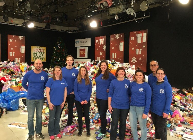 Regence Volunteers at KGW Toy Drive