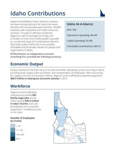 The Economic and Fiscal Impacts of Regence Idaho