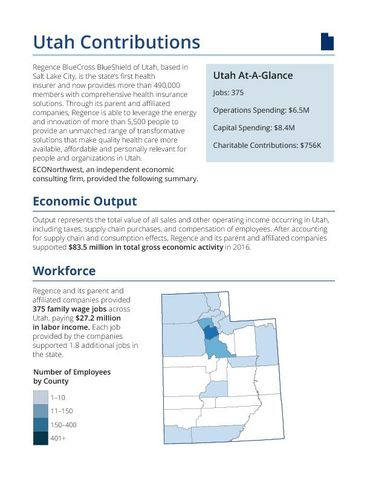 The Economic and Fiscal Impacts of Regence Utah