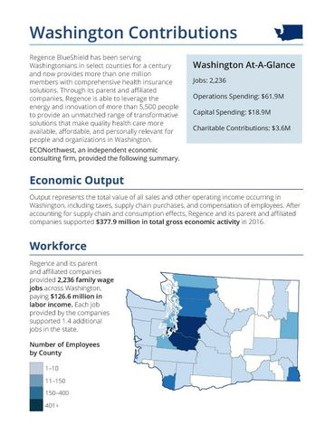 The Economic and Fiscal Impacts of Regence Washington