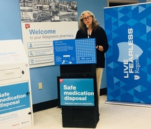 Washington State Representative Laurie Jinkins Regence and Walgreens partner for safe medication disposal kiosks in Washington