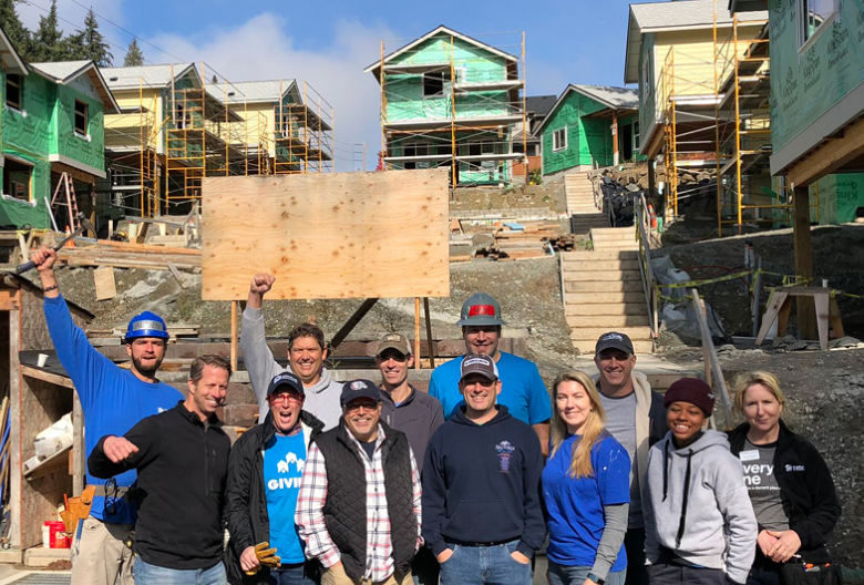 Regence employee volunteers with Habitat for Humanity Seattle-King County
