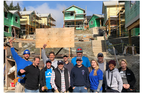 Regence employee volunteers with Habitat for Humanity Seattle-King County