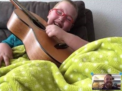 Virtual music lessons bring joy to kids in treatment MyMusicRx