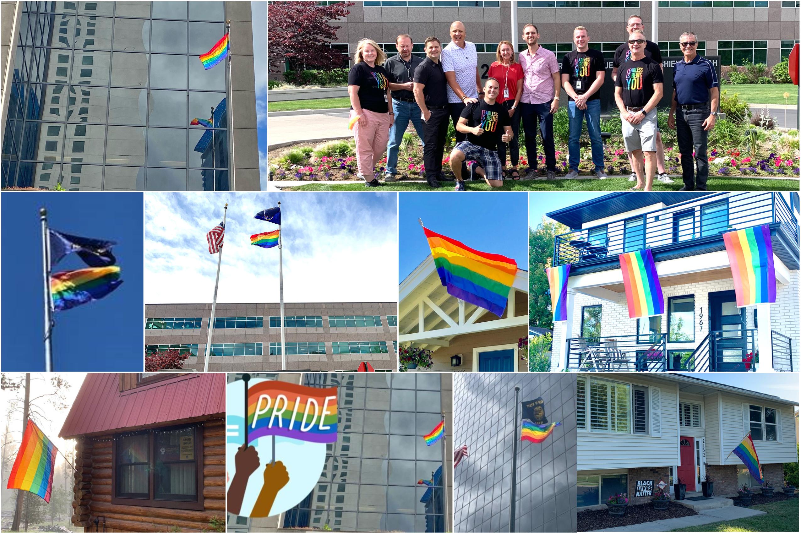 Regence Pride 2021 flags no logos