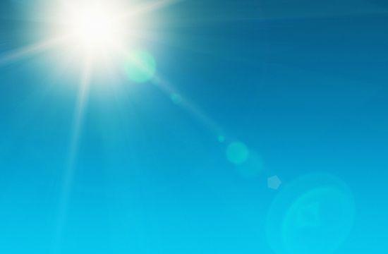 Blazing noonday sun