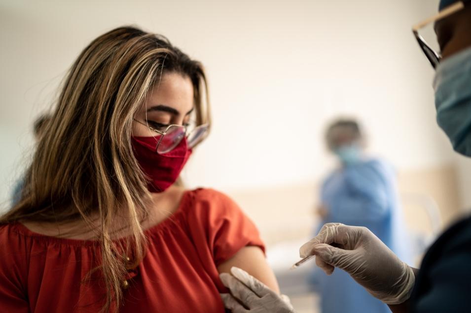 Girl vaccine mask