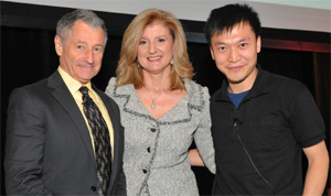 The Internet's past, present and future: one of it's fathers, Leonard Kleinrock; Arianna Huffington, editor of the popular online news site Huffington Post; and Issac Mao, co-founder of the Social Brain Foundation who spoke at the conference in support of greater Internet freedom in China.