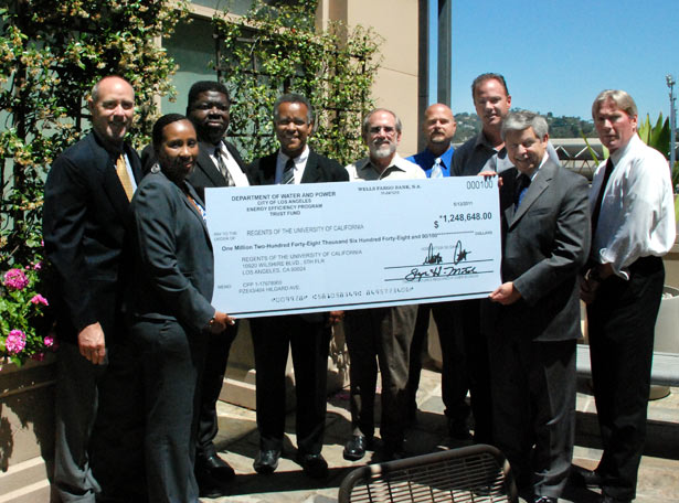 DWP presents giant $1.2 million check to UCLA.
