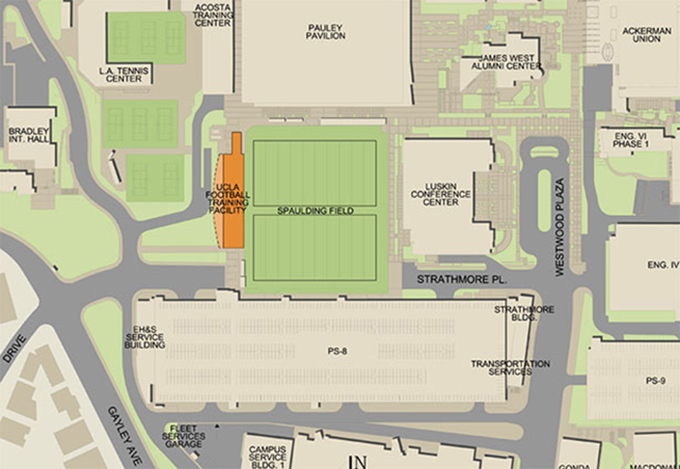 Firm chosen to design new football training facility ucla for Athletic training facility design