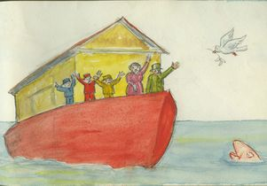 Drawing of Noah's Ark by Aldous Huxley