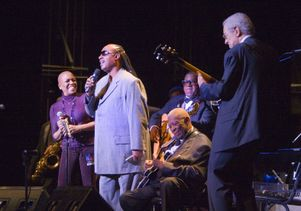 Dee Dee Bridgewater, Stevie Wonder and B.B. King perform with Kenny Burrell