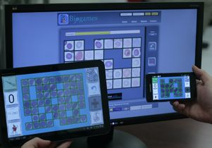 Sample malaria-diagnosis game screens