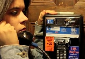 Still from music video 'Payphone'