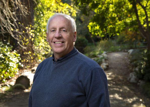 Philip Rundel (in UCLA's Mildred E. Mathias Botanical Garden)