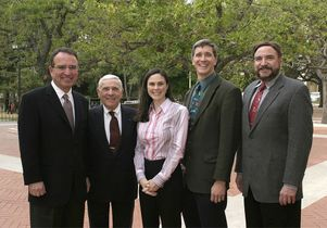 Dr. Leonard Apt and Jules Stein Eye Institute colleagues