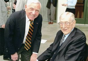 Dr. Leonard Apt and Coach John Wooden