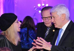 Barbra Streisand, Larry King, Gene Block