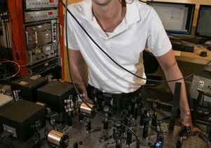 Eric Hudson in his physics laboratory