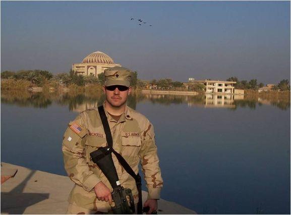 Andrew Nicholls in Baghdad, Iraq