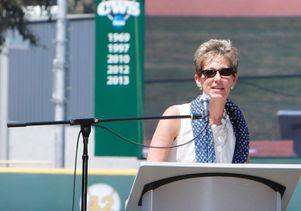 Rhea Turteltaub at baseball celebration