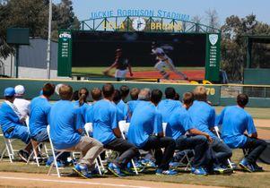 College World Series celebration