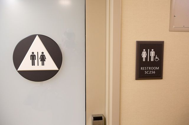Unisex bathroom in Sproul Landing