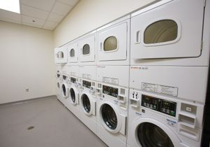 Click to open the large image: Sproul Landing laundry area