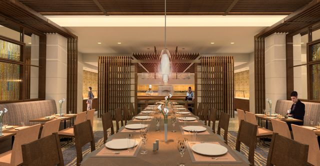 Luskin Center dining room