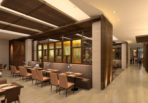 Click to open the large image: Luskin Center dining view