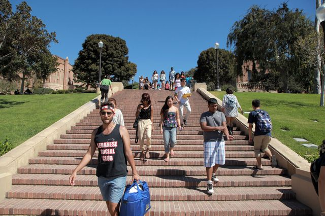 UCLA students on Janss Steps