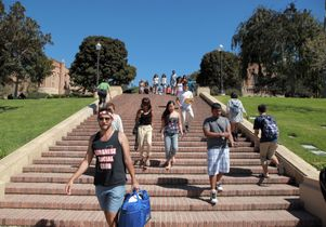 Click to open the large image: UCLA students on Janss Steps