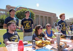 Click to open the large image: Quidditch club table