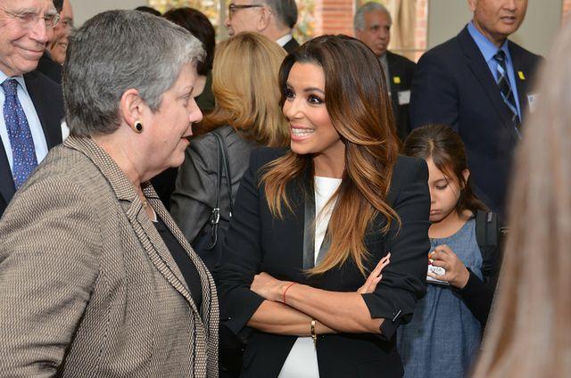 Eva Longoria with Janet Napolitano