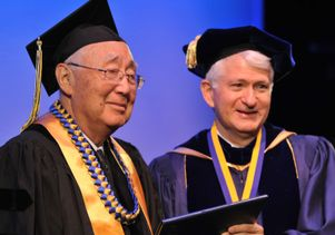 Chancellor Gene Block at the honorary degree ceremony