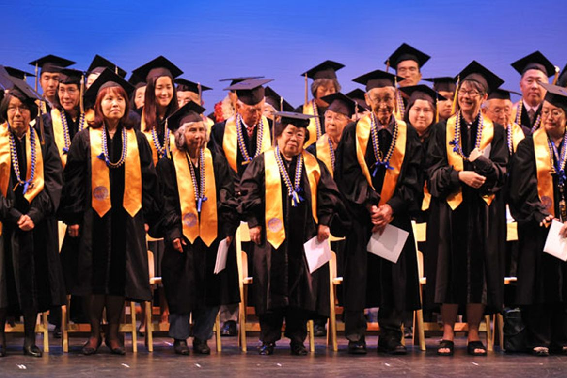Honorary degrees ceremony for Japanese Americans