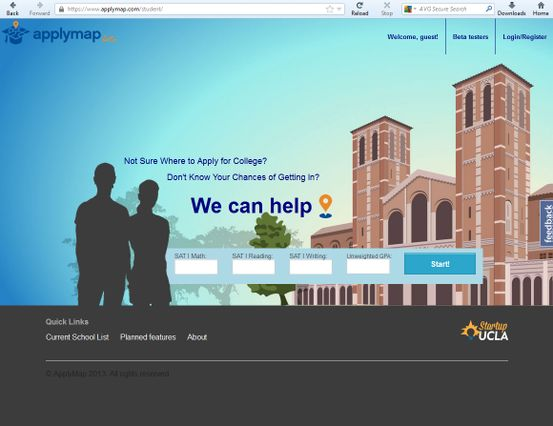 Royce Hall on ApplyMap homepage