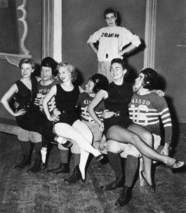 Carol Burnett (standing) in a student production at UCLA