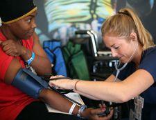 Care Harbor blood pressure check