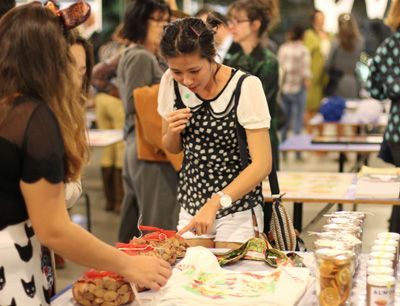 Woman shops at Arts ReSTORE
