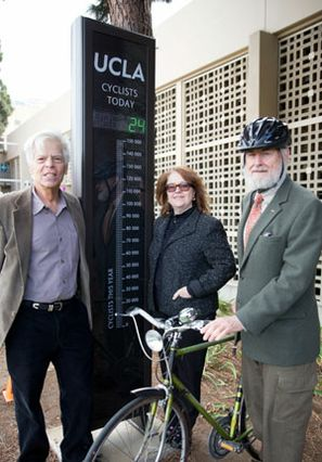 UCLA bike counter with Goldstein, Fortier, Shoup