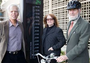 Click to open the large image: UCLA bike counter with Goldstein, Fortier, Shoup