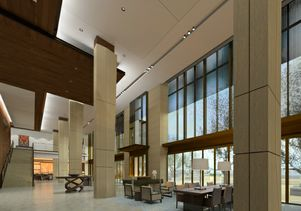 Click to open the large image: Luskin center-lobby-rendering